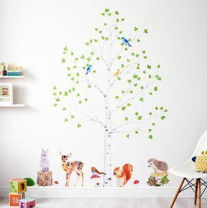 Woodland Nursery Wall Stickers Animals And Tree Set Office Study