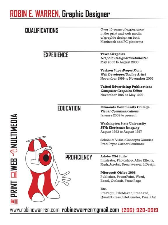 Graphic Design Resume Graphic Designer Resume #8 » Just Resume