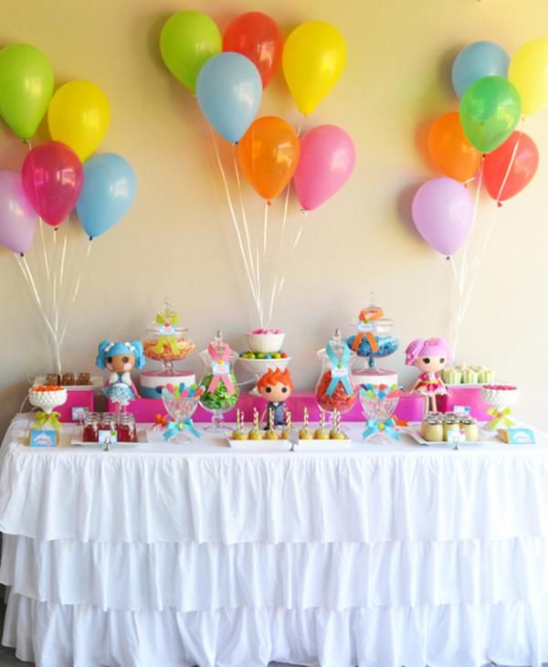 Colorful Lalaloopsy 6th Birthday Party