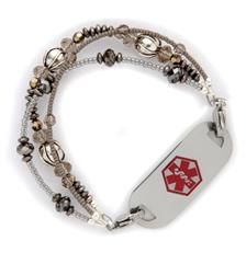 Because we're on so many meds, a med id bracelet is a must.  These ones are at least stylish!