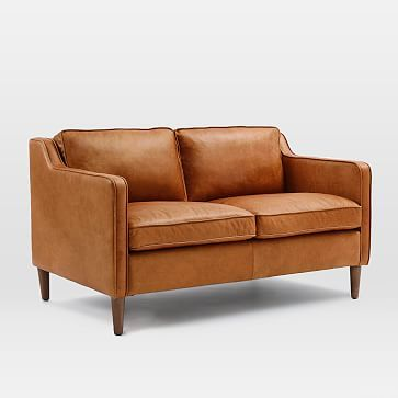 Hamilton Leather Sofa Westelm This Is The 2 Seater We Would Actually Get The 81 3 Seater Leather Loveseat Love Seat Leather Sofa