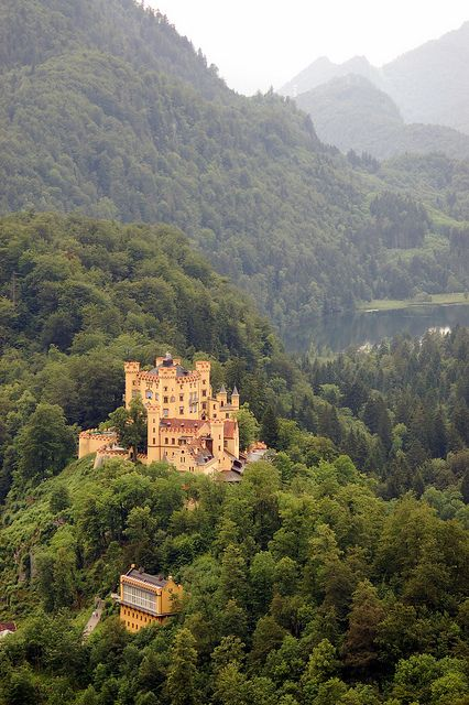 View of Howenschwangau from Neuschwanstein, Bavaria, Germany