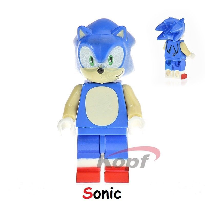 Sonic Minifigure Rare Cartoon Figure For Custom Lego Minifigures Thor Batman Cartoon Figure Rare Sonic Sonic The Hedgehog Custom Lego
