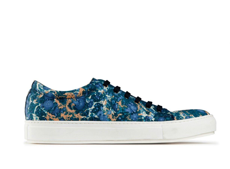 Adrian Print Marble Blue Marble Sneakers Sneakers Studio Blue