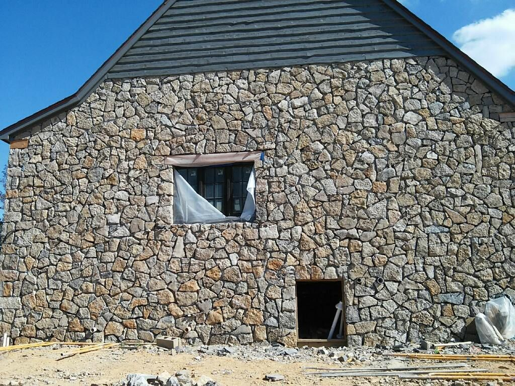 Stone Guest House Under Construction House Under Construction Guest House Building