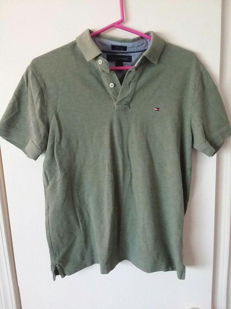 7ed7aba9 Mens Vintage Tommy Hilfiger Polo Shirt Size Medium Olive Green #fashion  #clothing #shoes #accessories #mensclothing #shirts (ebay link)