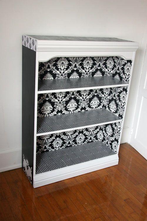 East #2: Malinda's Black & White Bookcase