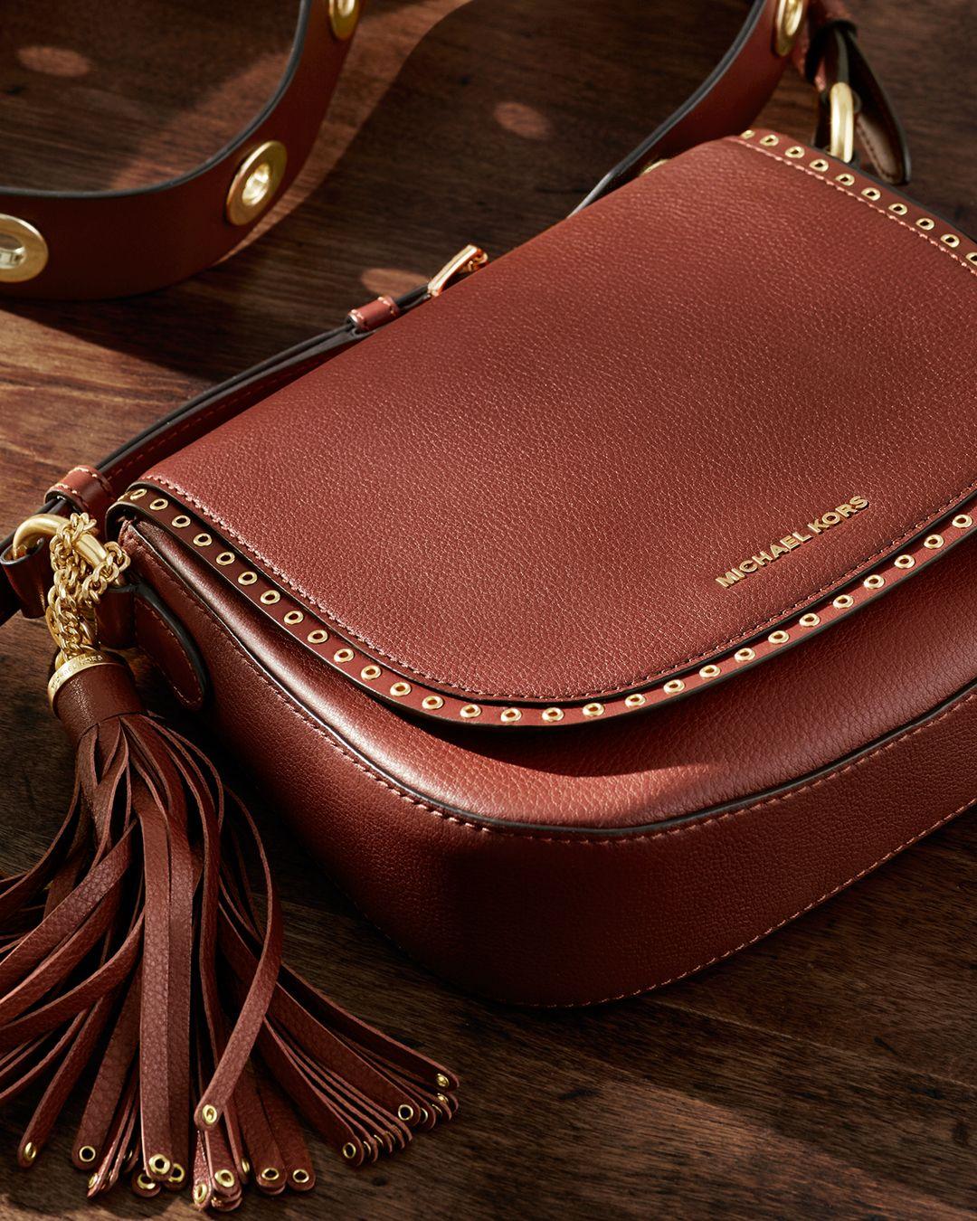 Brooklyn Medium Leather Saddlebag | Michael Kors | レザーの