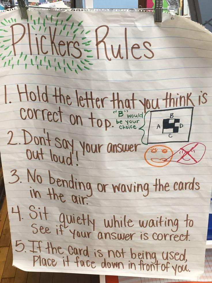Plickers Anchor Chart Teacher Tech Teaching Technology