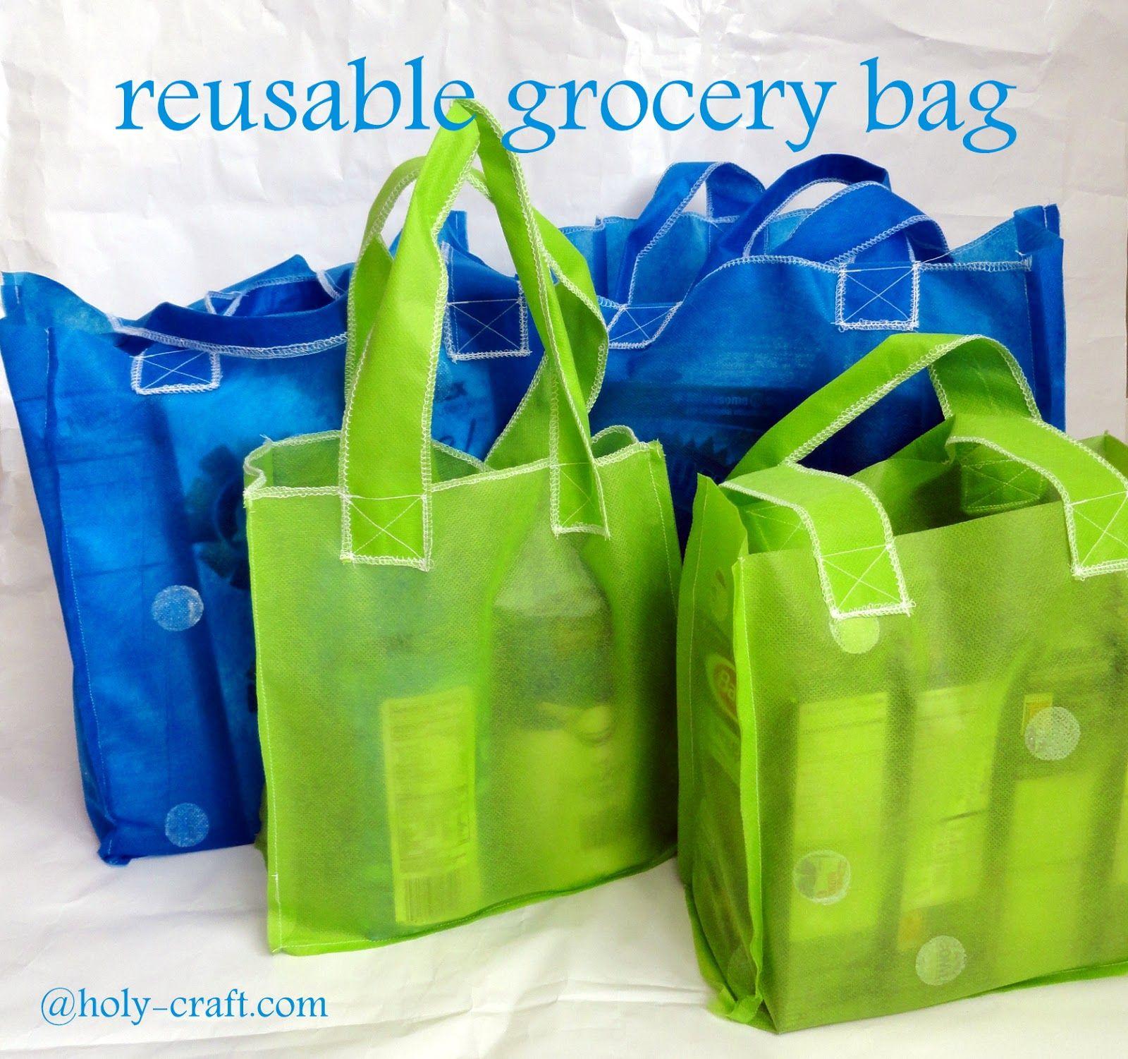 Reusable grocery bag tutorial