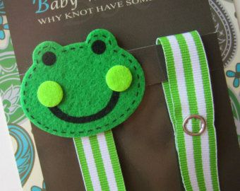 Baby boy Pacifier clip Baby pacifier holder Plane by soCuties