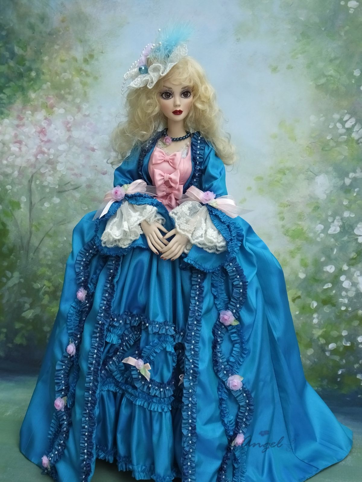 """Rococo gown for Evangeline 18"""" Tonner doll 