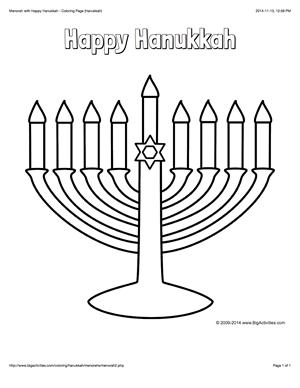 Hanukkah Coloring Page With A Menorah And The Words Happy Hanukkah Hanukkah Crafts Hannukah Crafts Happy Hanukkah