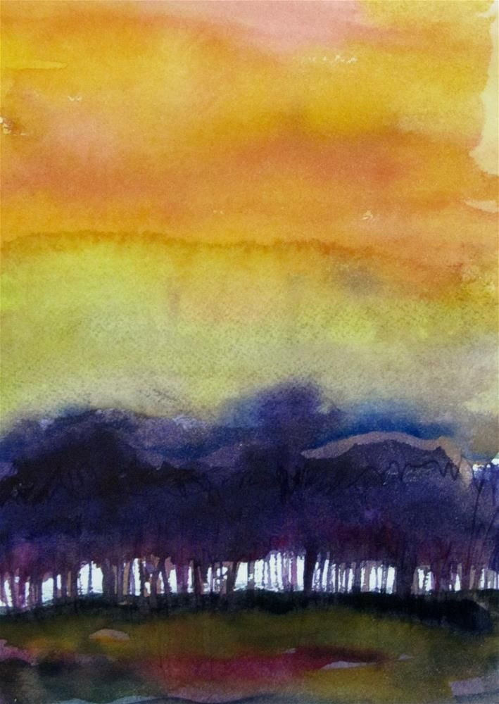 Sunset On The Gulf By Patricia Macdonald Abstract Landscape