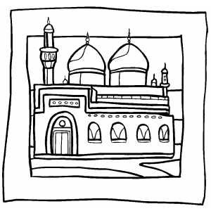 islamic mosque coloring sheet