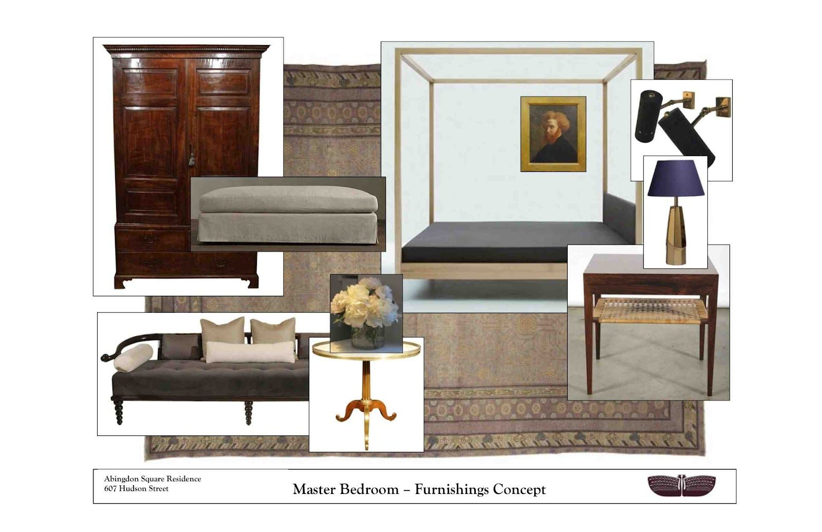 Furnishings Concept for residence at The Abingdon NYC Greenwich