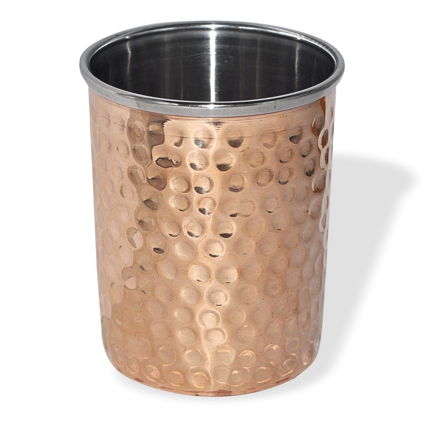 Buy Hammered Copper Handmade Tumbler Glass Online at Low Prices in ...