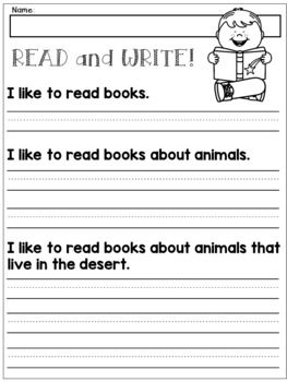 first grade handwriting practice expanding simple sentences writing activities k 2. Black Bedroom Furniture Sets. Home Design Ideas