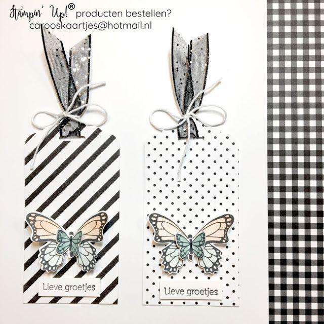 stampin' up® vlinderlabeltjes cro's kaartjes