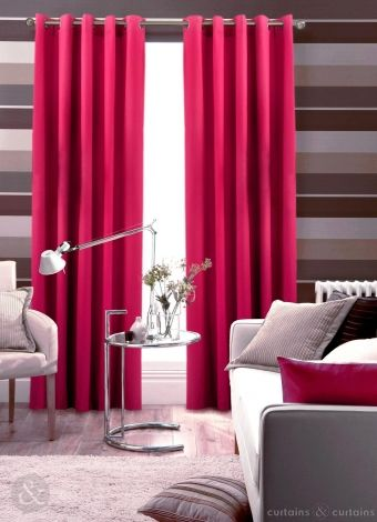 These Fuchsia Pink Curtains Have A Perfect Modern Feel Curtains Living Room Green Curtains Lime Green Curtains