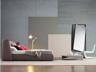 Doppelbett mit Polsterkopfteil BASKET - Bonaldo