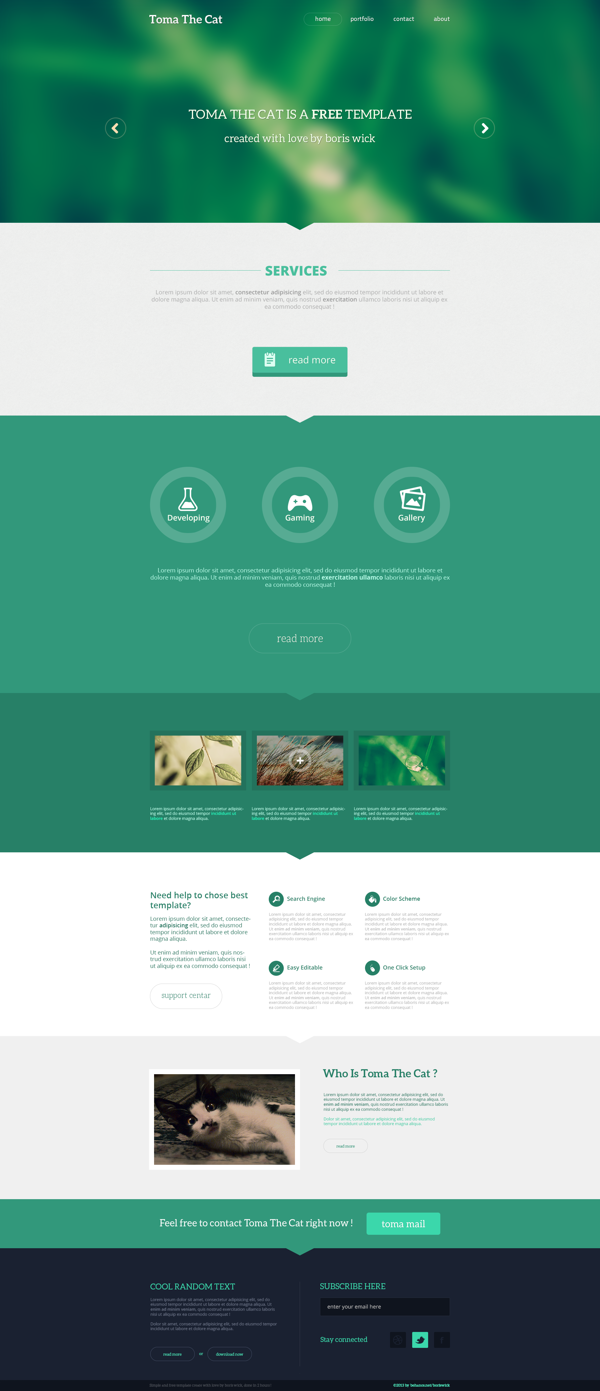 Free Flat Template by Boris Wick, via Behance | Web Design ...