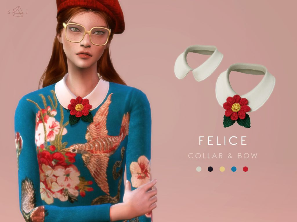 Knit Top Accessory Collar Set Felice Gucci