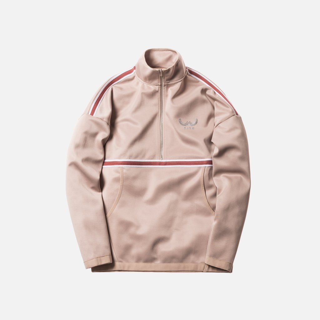 Kith Half Zip Track Jacket Tan