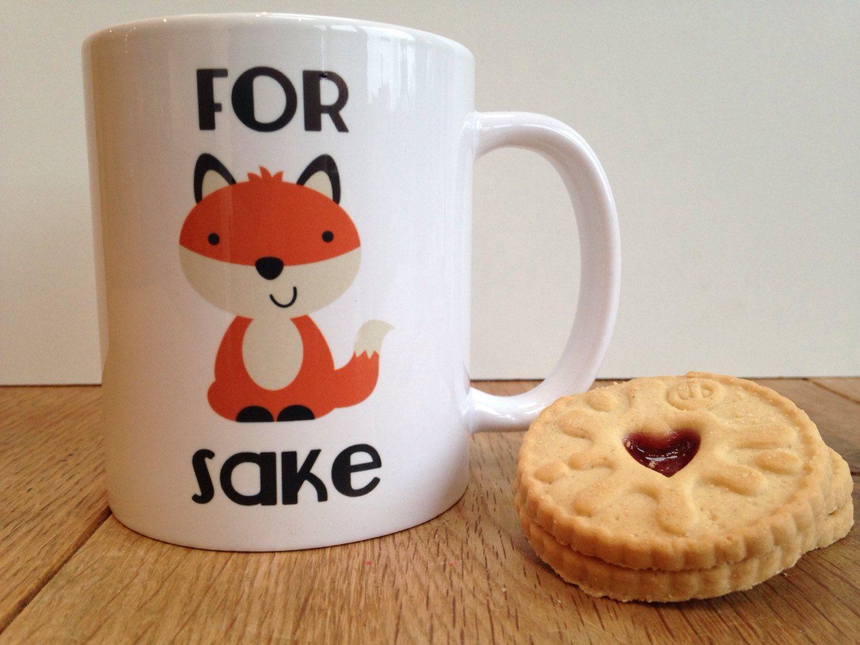 Fox sake mug by personalisedmugs4u on Etsy https://www.etsy.com/listing/219615904/fox-sake-mug