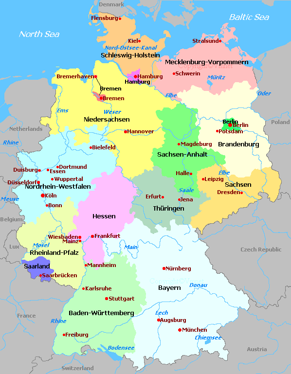 Regions Of Germany Map.Maps Germany With Regions Maps Germany German Heritage In 2019