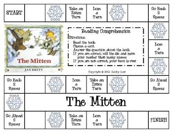 Connie~ Thought of You :) This is a fun way to practice reading comprehension. Games are included to accompany The Mitten and The Hat by Jan Brett.These reading comp...