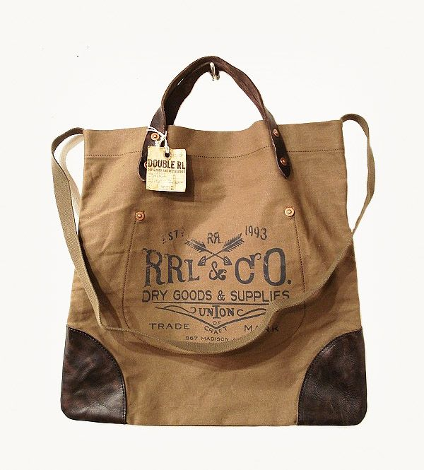 RRL, Canvas Leather Tote Bag | Bags | Pinterest