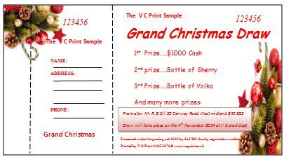 Christmas Raffle Ticket Template  Raffle Ticket Templates For