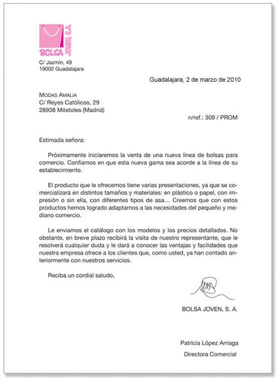 Modelo De Carta De Oferta Lengua Y Literatura Tareas Y Más Carta Presentacion Empresa Ejemplo De Carta Comercial Carta De Presentacion Laboral