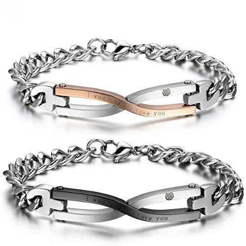 Symbole Bracelet Homme Jewelrywe Amour Femme Infini D'amitié SUMzpV