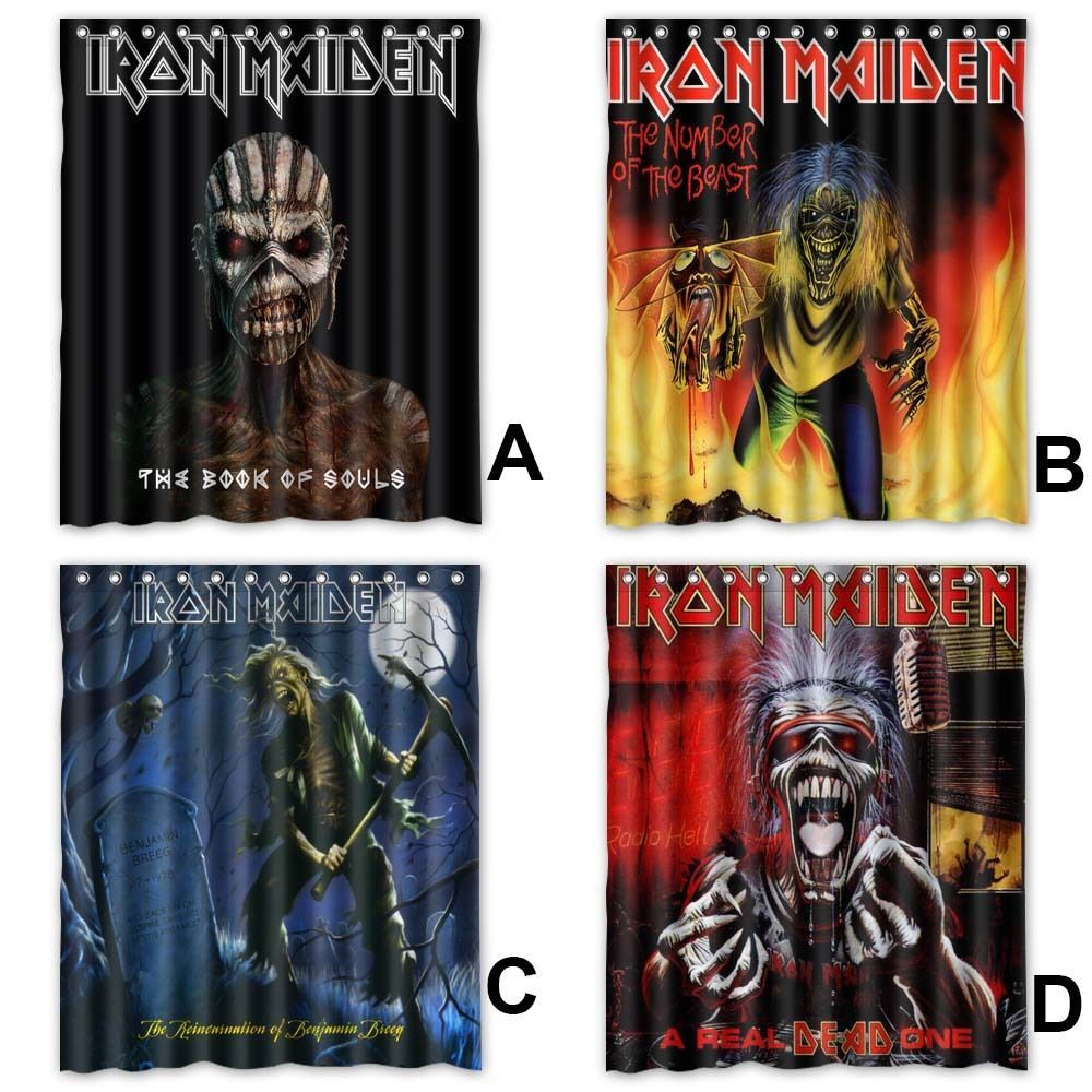 Iron Maiden Albums Polyester Fabric Shower Curtain 60x72 Inch