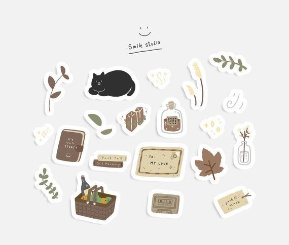 Stickersheet – Fall | Autumn Stickers, Planner Stickers, magic stickers, Diary Stickers, Bullet Journal Stickers, Seasonal Stickers
