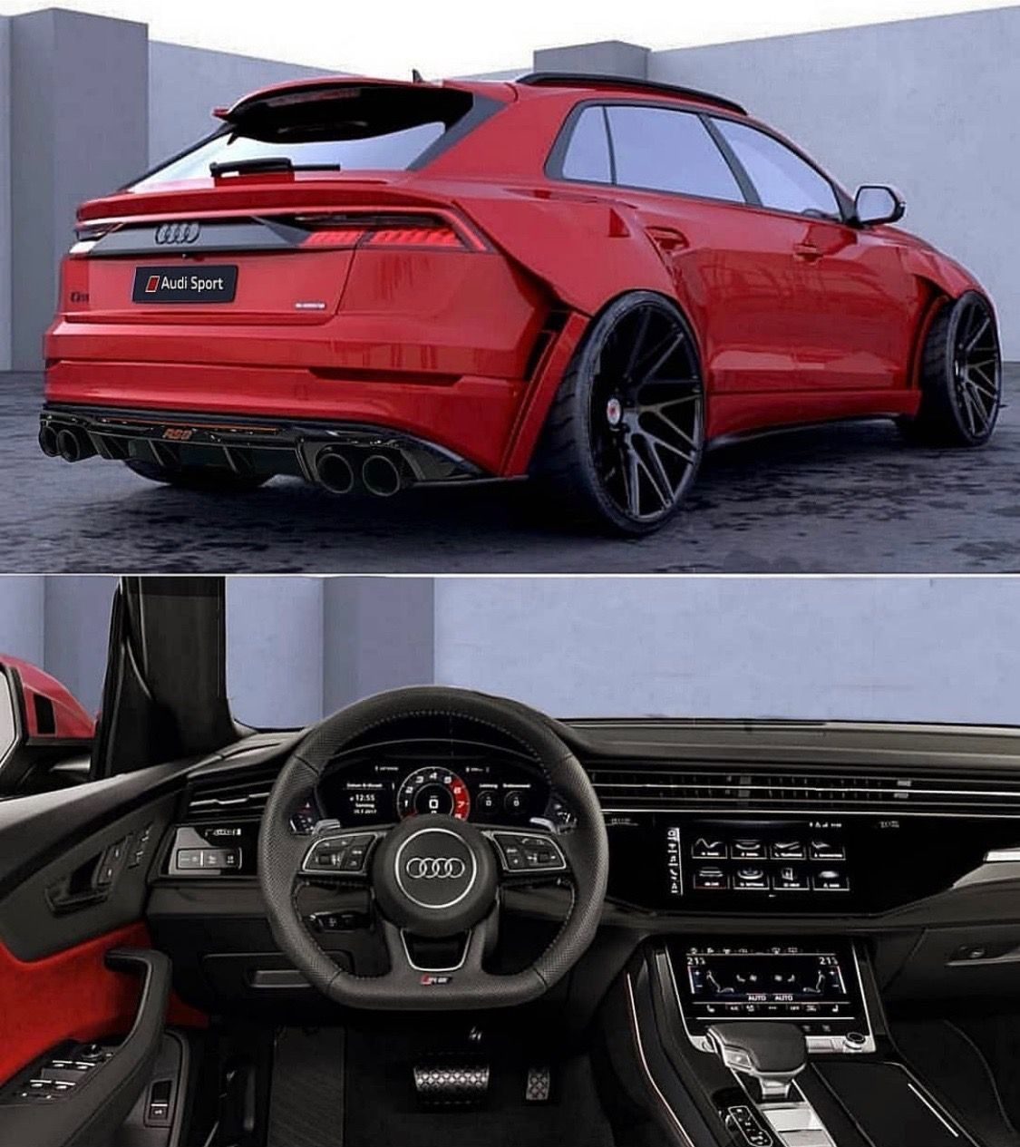 Audi Q8 Red Black Black Audi Audi Audi Rs