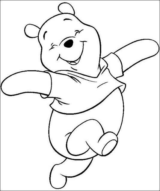 Cara de Winnie Pooh para colorear - Imagui | Fieltro | Colores ...