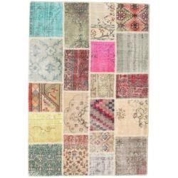 Photo of Patchwork Teppich 138×202 Moderner Teppich