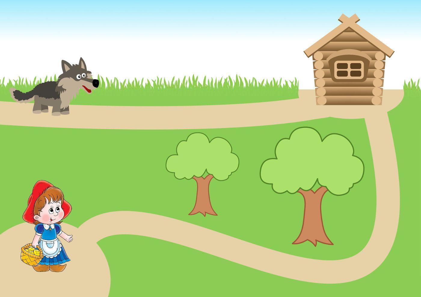 Красная Шапочка и Волк, рисунок, клипарт (с изображениями ...