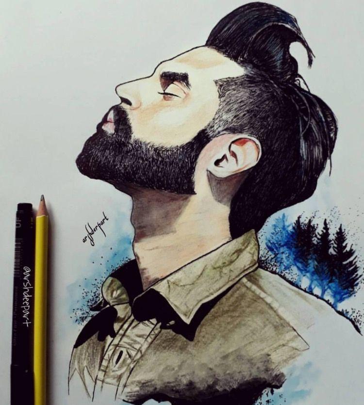 Akshay Beard Drawing Guy Drawing Drawing Artist
