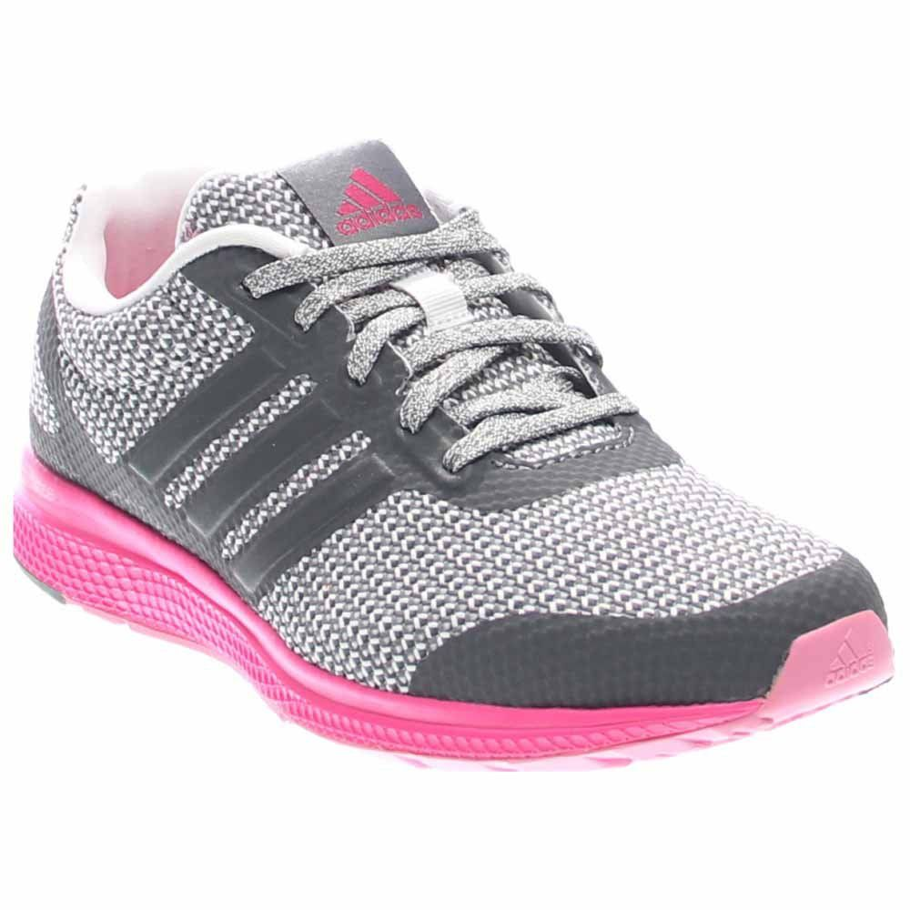 adidas Performance Womens Mana Bounce Running ShoeVista Grey White Shock  Pink