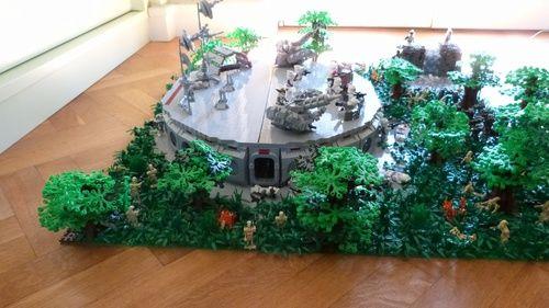 Lego Star Wars Clone Base On Endor A Lego Creation By