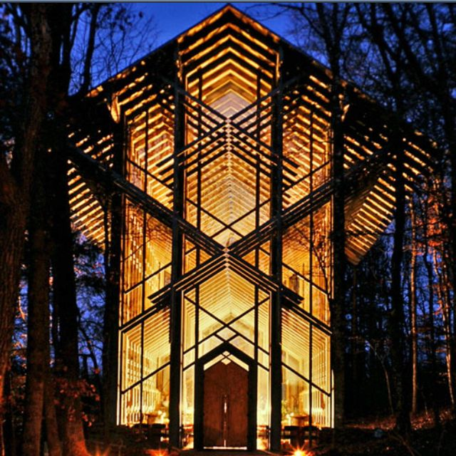 Wedding Chapels Near Eureka Springs: This Is The Place. Night Time Wedding For Me.