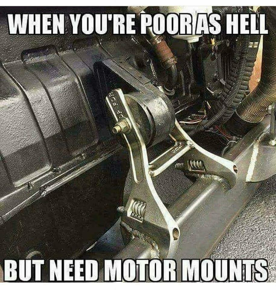 Ingenuity-created motor mounts. | Funny pictures | Autos ...