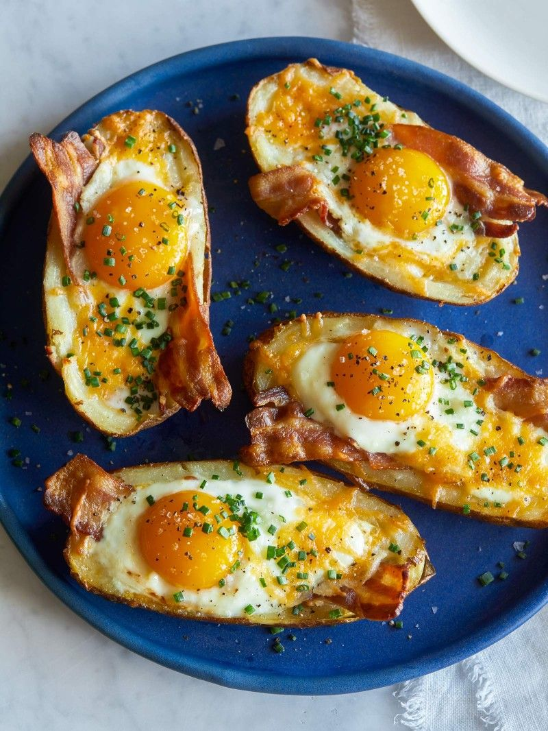 Twice Baked Breakfast Potatoes | Spoon Fork Bacon