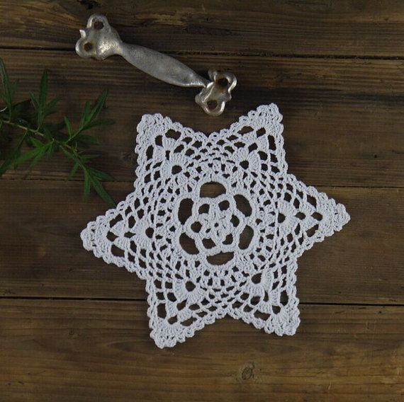 20CM/8 Handmade Crocheted Doilies Cotton Table by ColoredHome