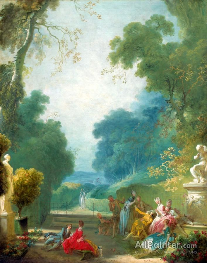 Jean Honore Fragonard,A Game Of Hot Cockles oil painting reproductions for sale