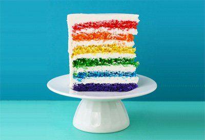 Stunning rainbow birthday cake by Whisk Kid
